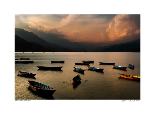 This award winning image was taken of Phewa Lake, Pokhara, Nepal